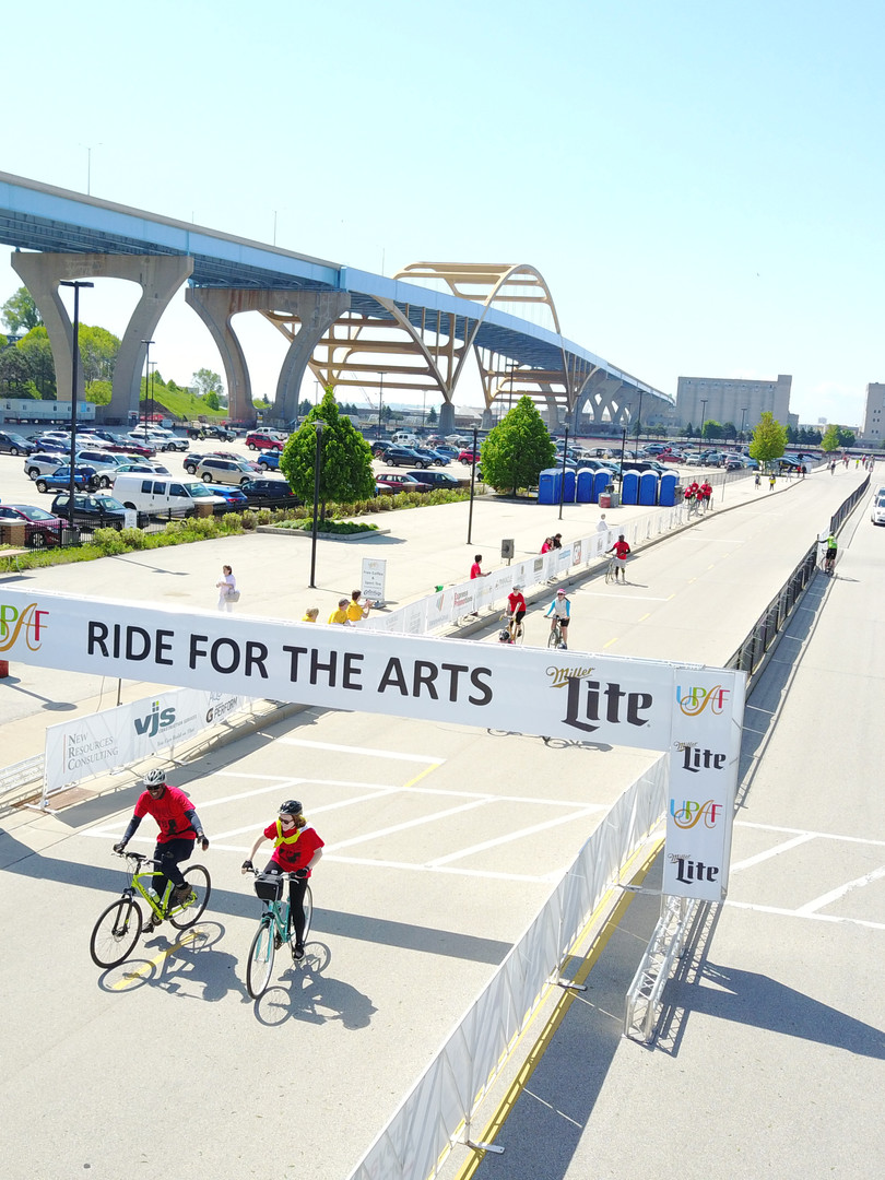 UPAF Ride for the Arts Drone Shot