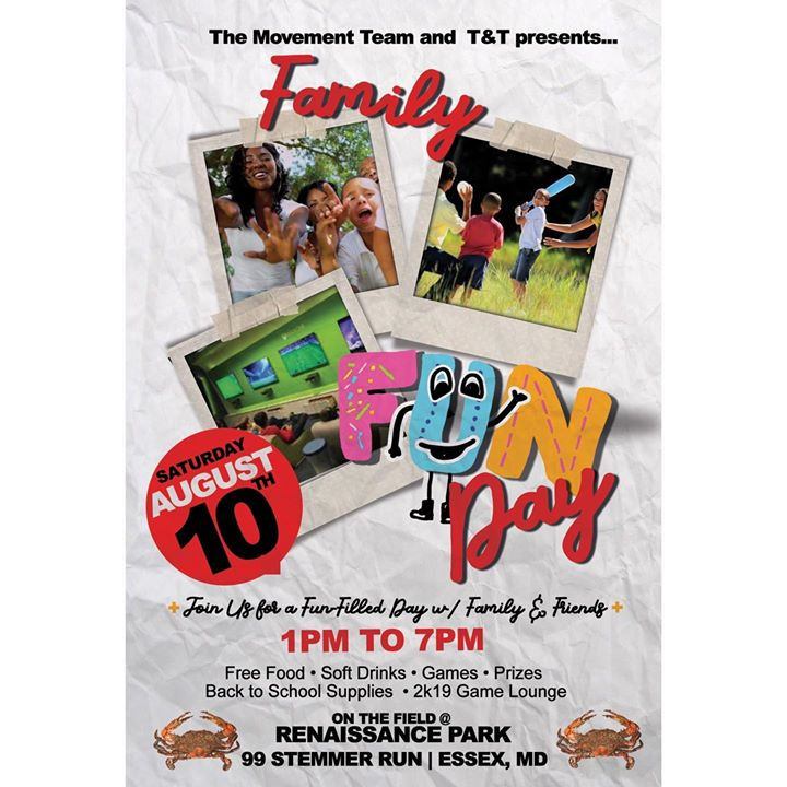 Family and Friends Fun Day in the Park & School Supplies Give-Away