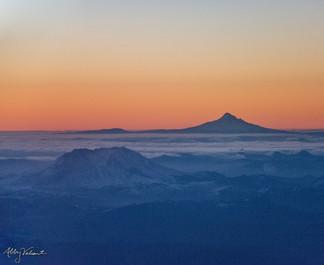 Mt. Hood and Mt. St. Helens