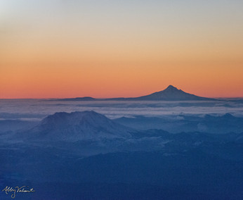 Mt. Hood and Mt. St. Helens