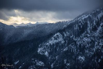 Break in a Storm Approaching Hex Mountain