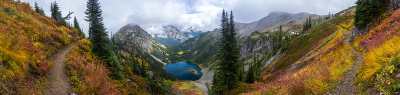 Autumn in the North Cascades Panoramic