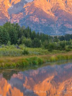 Sunrise Reflections (Grand Tetons, Wyoming)