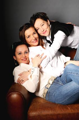 Carole, Christelle et Géraldine