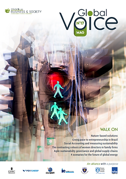 Council on Business & Society Global Voice magazine #17, CSR, buildbackbetter, women leaders, 4 ways to fight child labor, sustainability, greentech, climate change, management, nature-based solutions, social enterprise, intergenerational collaboration, social reporting, environmental reporting, social reporting, supply chain governance, agile supply chain governance, ethics, ethics & compliance.