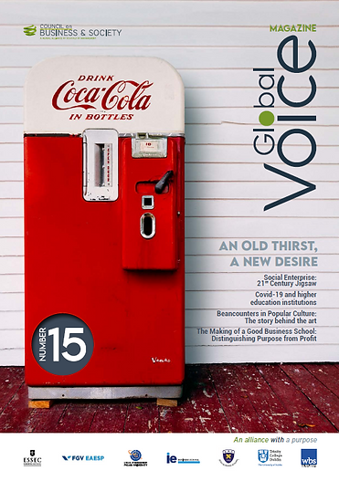 Global Voice issue 15, September 2020: Business education, COVID and education, healthcare in Brazil, ESSEC Together, CSR, management control systems, ethics, social enterprise