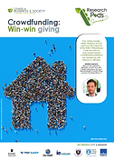 Crowdfunding and win-win giving: Crowdfunding: Win-win giving. Understand how crowdfunding works and find the right approach for entrepreneurs to pitch their innovations and for donators to place their funding using a win-win approach; Philanthropy; corporate giving; crowdfunding; win-win giving; donator strategies; seed funding; entrepreneur; entrepreneurship; start-ups; business ideas; innovation; hybrid giving; hybrid crowdfunding; Arthur Gautier; Tom Gamble; Council on Business & Society; ESSEC Philanthropy Chair; ESSEC Together;