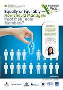 Equally or equitably? How should managers treate their team members?