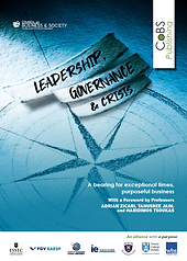 Leadership, Governance, and Crisis : CSR, The New Normal, Sustainability, Business Ethics, Responsible management, responsible business practices, sustainability, greentech, sustainable supply chain, sustainable development, ethics and compliance, code of conduct, inspirational leadership, Capitalism 4.0, The New Normal.