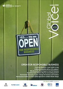 Global Voice magazine #19: 21 contributors from the Council's seven member schools as well as guest institutions and practitioners, provide us with insights into topics ranging from measuring social impact, the rising interest in the concept of Conscious Business, the EU Green Taxonomy, the Bitcoin and ESG analysis, HR policy in small firms, political links and the Big Four accounting firms, and entrepreneurship and diversity.