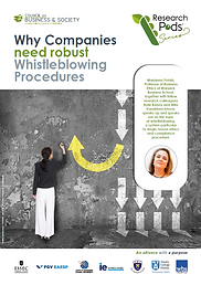 A CoBS Research Pod featuring Warwick professor Marianna Fotaki on whistleblowing procedures