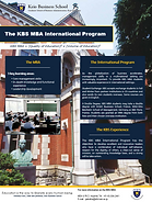 Keio Business School MBA International programme