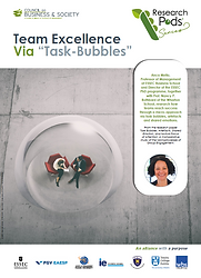 Team excellence. Council on business & Society CoBS Research Pods: Condensed research capsules with a practical action-oriented dimension for managers, leaders, practitioners