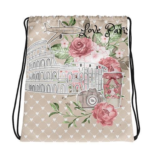 Drawstring bag - Love Paris