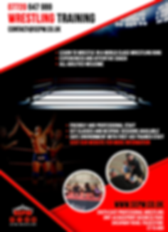 SEPW wrestling training poster