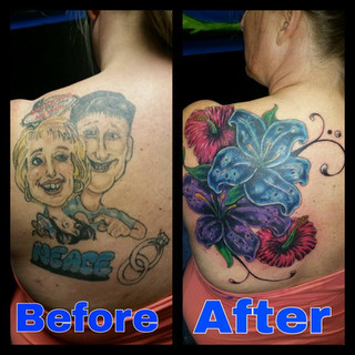 Cover Up Tattoo by Scott Harrison