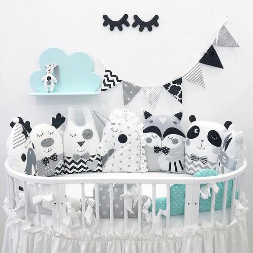 בובות מעוצבות שחור לבן
