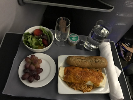 My lunch on the plane