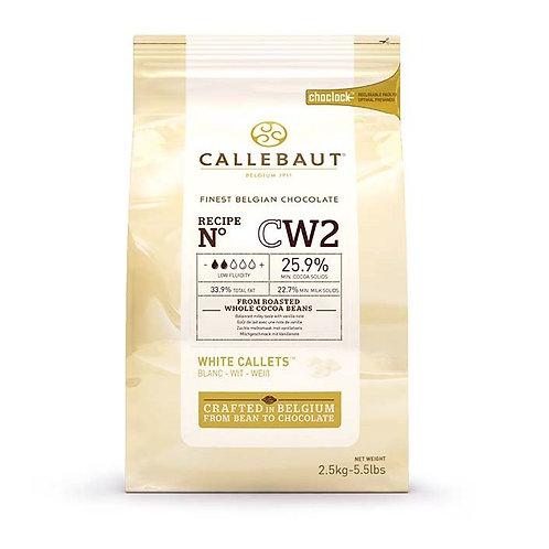 Шоколад белый в калетах 25,9% Callebaut (Бельгия) 2,5кг