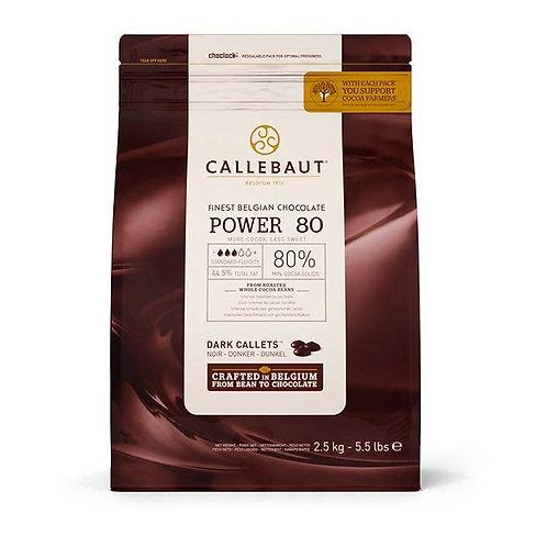 Горький шоколад в калетах 80% Callebaut (Бельгия) 2,5кг
