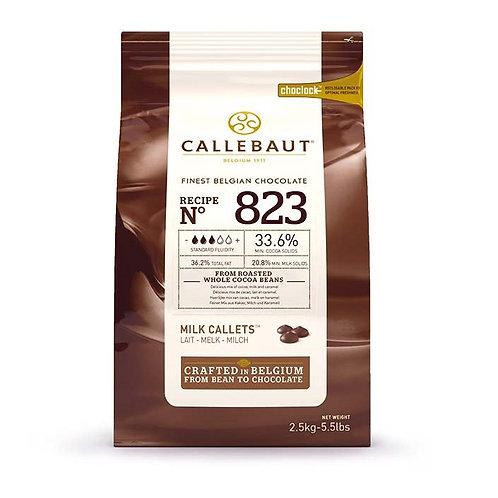 Шоколад молочный в калетах 33,6% Callebaut (Бельгия) 2,5кг