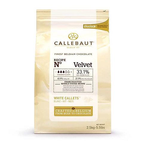 Шоколад белый в калетах 33,1% Velvet Callebaut (Бельгия) 2,5кг