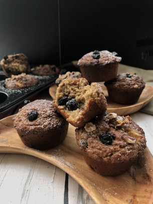 Apple Blueberrry Almond Muffins