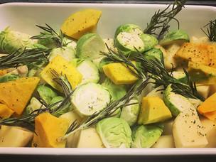 Roasted Veggies with Fresh Rosemary