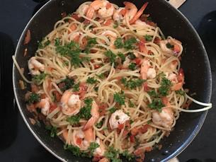 Seafood Spaghetti, White Wine