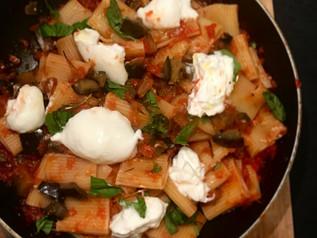 Pasta with Eggplants & Burrata