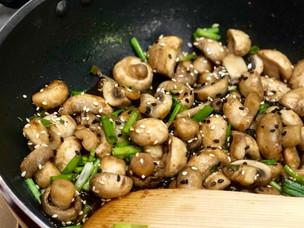 Mushroom Basil Stir Fry