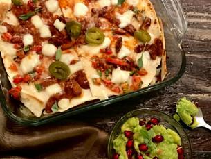 Bean Tortilla Lasagna