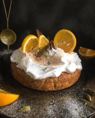 Spiced Carrot Cake & Cinnamon Frosting