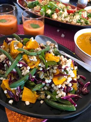 Roast Pumpkin and Barley Salad