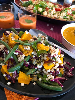 Roast Pumpkin and Barley Salad