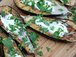 GRILLED EGGPLANT WITH CREAMY FETA