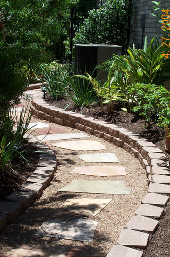 arid walkway entrenched