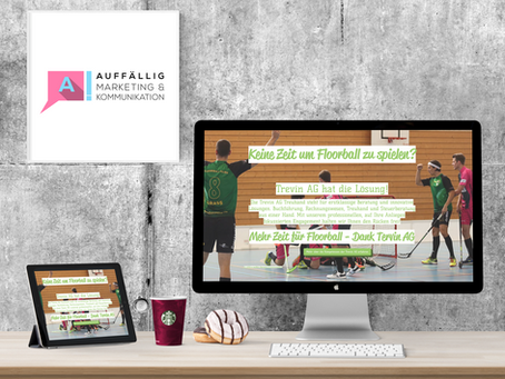 Landing Page für Trevin AG