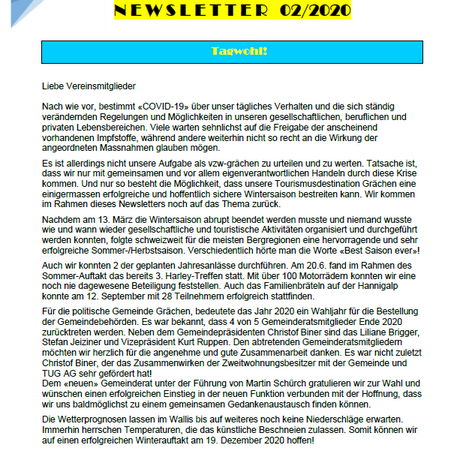 Newsletter 02/2020