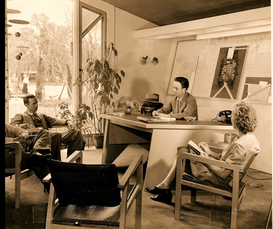 Alden B. Dow and others at work.