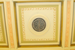 Restored Coffered Ceiling and Vent