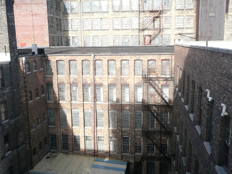 Before Image of Interior Courtyard