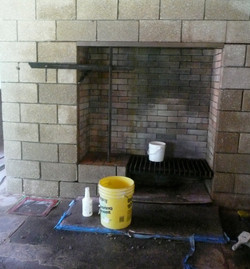 Living Room Fireplace Cleaning