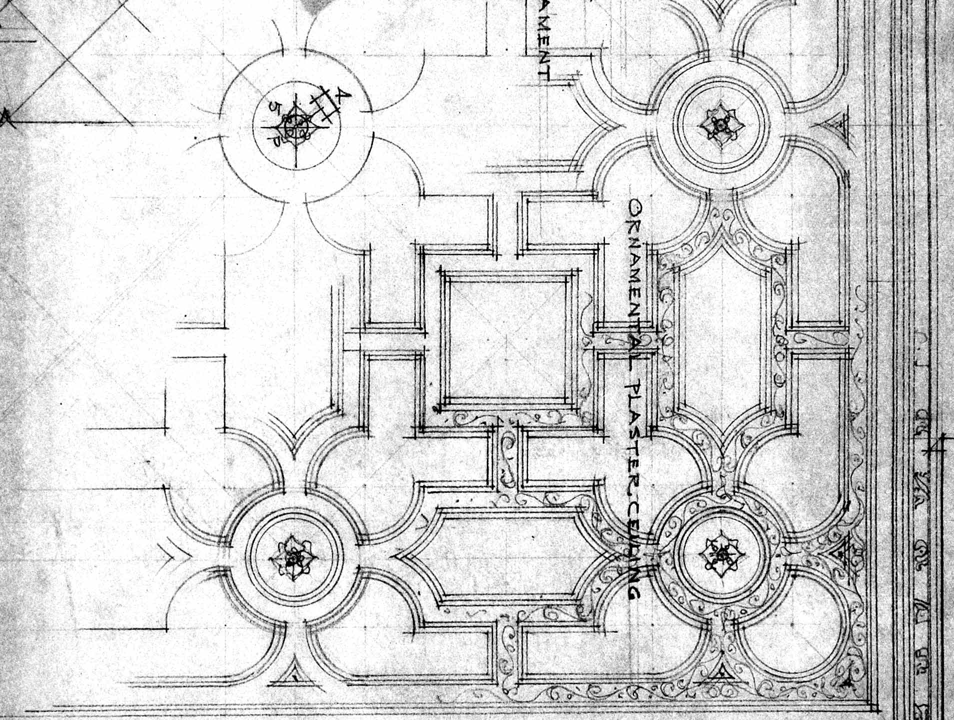 Living Room Ceiling Drawing Detail