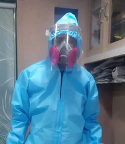 we are highly protective with ppe gown, face shield, etc