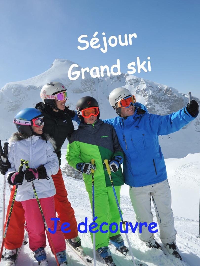 Grand ski sur le Domaine des Portes du Soleil