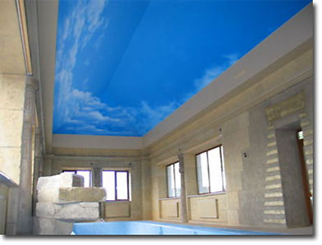 Swiming pool sky print