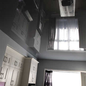 Grey lacquer stretch ceiling