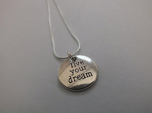 Live Your Dream Mental Health Awareness Recovery Necklace