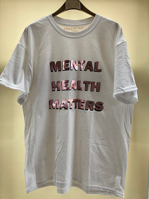 'Mental Health Matters' T-Shirt Long sleeve available